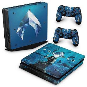 PS4 Slim Skin - Aquaman