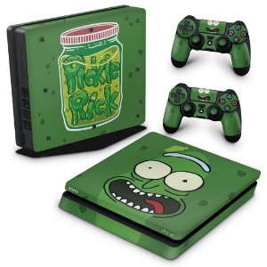 PS4 Slim Skin - Pickle Rick and Morty