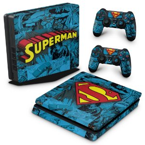 PS4 Slim Skin - Super Homem Superman Comics