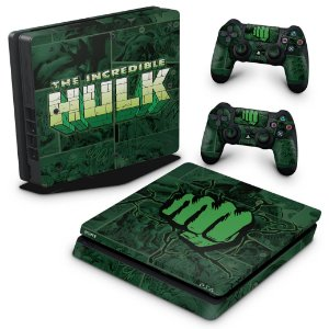 PS4 Slim Skin - Hulk Comics