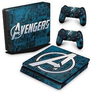 PS4 Slim Skin - Avengers Vingadores Comics