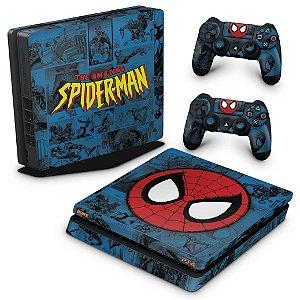 PS4 Slim Skin - Homem-Aranha Spider-Man Comics