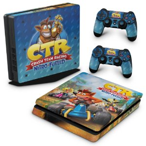 PS4 Slim Skin - Crash Team Racing CTR