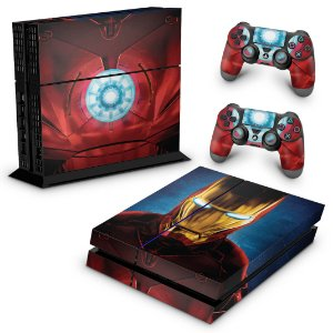 Ps4 Fat Skin - Iron Man - Homem de Ferro