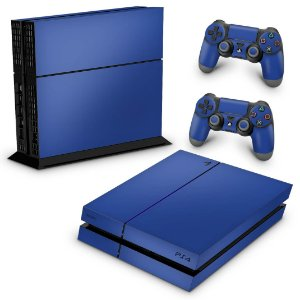 Ps4 Fat Skin - Azul Escuro