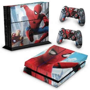 Ps4 Fat Skin - Spiderman - Homem Aranha Homecoming