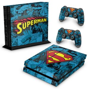 PS4 Fat Skin - Super Homem Superman Comics