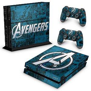 PS4 Fat Skin - Avengers Vingadores Comics