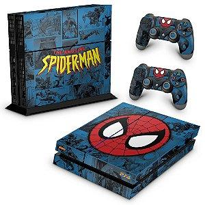 PS4 Fat Skin - Homem-Aranha Spider-Man Comics