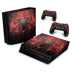 PS4 Pro Skin - Spider Man - Homem Aranha