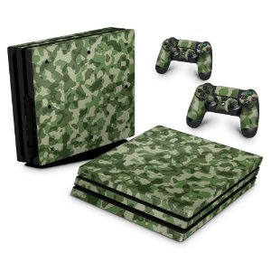 PS4 Pro Skin - Camuflagem Exercito