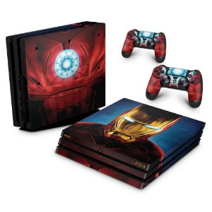 PS4 Pro Skin - Iron Man - Homem de Ferro