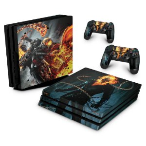 PS4 Pro Skin - Ghost Rider #B