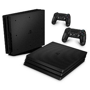 PS4 Pro Skin - Fibra de carbono