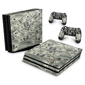 PS4 Pro Skin - Dollar Money Dinheiro