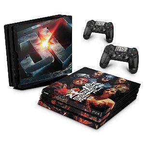 PS4 Pro Skin - Liga Da Justiça