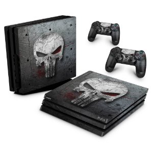 PS4 Pro Skin - The Punisher Justiceiro #b