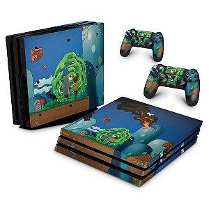 PS4 Pro Skin - Rick And Morty Mario