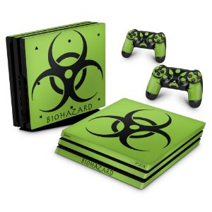 PS4 Pro Skin - Biohazard Radioativo
