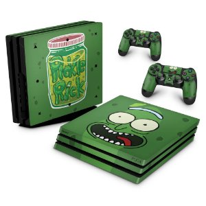 PS4 Pro Skin - Pickle Rick and Morty