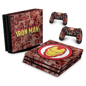 PS4 Pro Skin - Homem de Ferro Comics