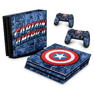 PS4 Pro Skin - Capitão América Comics