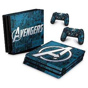 PS4 Pro Skin - Avengers Vingadores Comics