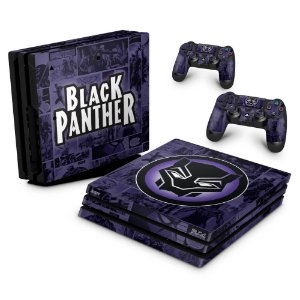 PS4 Pro Skin - Pantera Negra Comics
