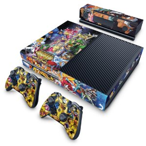 Xbox One Fat Skin - Cavaleiros do Zodiaco
