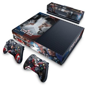 Xbox One Fat Skin - Capitão America - Guerra Civil
