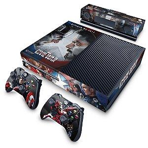Xbox One Fat Skin - Capitão America - Guerra Civil