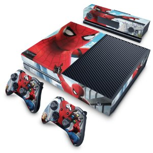 Xbox One Fat Skin - Homem Aranha - Spiderman Homecoming