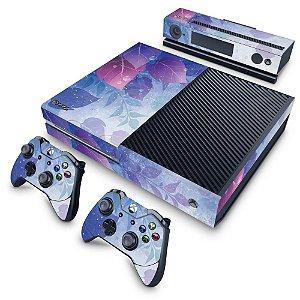 Xbox One Fat Skin - Folhas Lilás