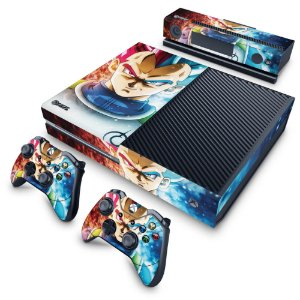 Xbox One Fat Skin - Dragon Ball Super Vegeta SSJ GOD