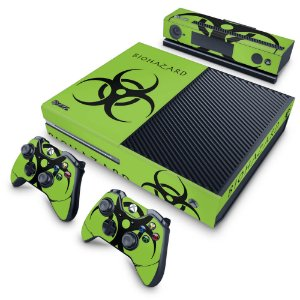 Xbox One Fat Skin - Biohazard Radioativo