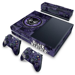 Xbox One Fat Skin - Pantera Negra Comics