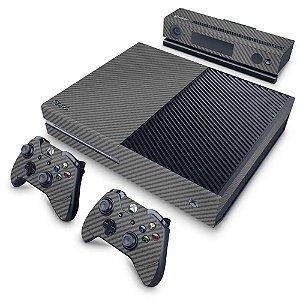 Xbox One Fat Skin - Fibra de Carbono Cinza Grafite
