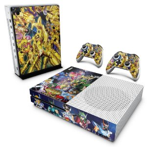 Xbox One Slim Skin - Cavaleiros do Zodiaco