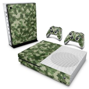 Xbox One Slim Skin - Camuflagem Verde