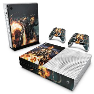 Xbox One Slim Skin - Ghost Rider - Motoqueiro Fantasma #A