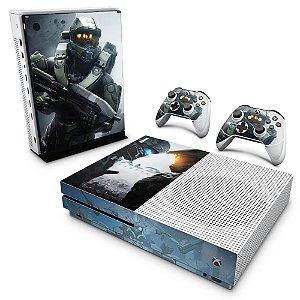 Xbox One Slim Skin - Halo 5: Guardians #B