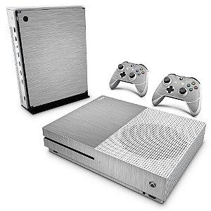 Xbox One Slim Skin - Aço Escovado Prateado