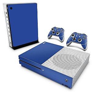 Xbox One Slim Skin - Azul Escuro