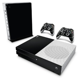Xbox One Slim Skin - Preto Black Piano