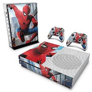 Xbox One Slim Skin - Homem Aranha - Spiderman Homecoming