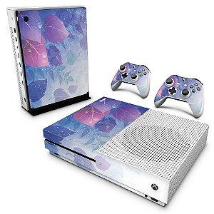 Xbox One Slim Skin - Folhas Lilás
