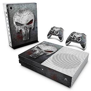 Xbox One Slim Skin - The Punisher Justiceiro #b