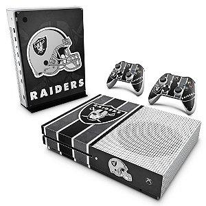 Xbox One Slim Skin - Oakland Raiders NFL