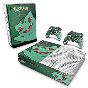 Xbox One Slim Skin - Pokemon Bulbasaur