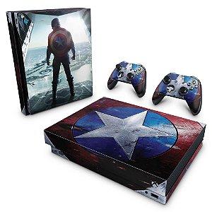 Xbox One X Skin - Capitão America